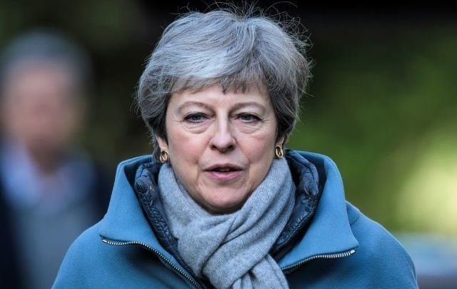 "Theresa May said on Monday that ""some direct application of powers here from Westminster\"" may return in the event of no-deal Brexit."