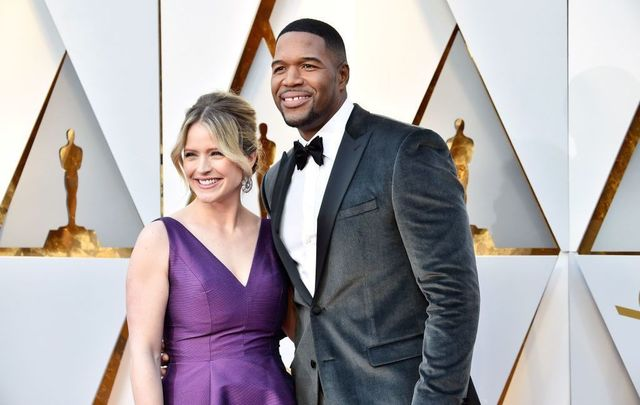 Sara Haines (L) and Michael Strahan attend the 90th Annual Academy Awards at Hollywood & Highland Center on March 4, 2018, in Hollywood, California.