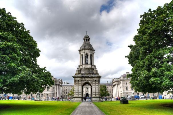 The Campanile of Trinity College: Summer accommodation at Trinity College Dublin.