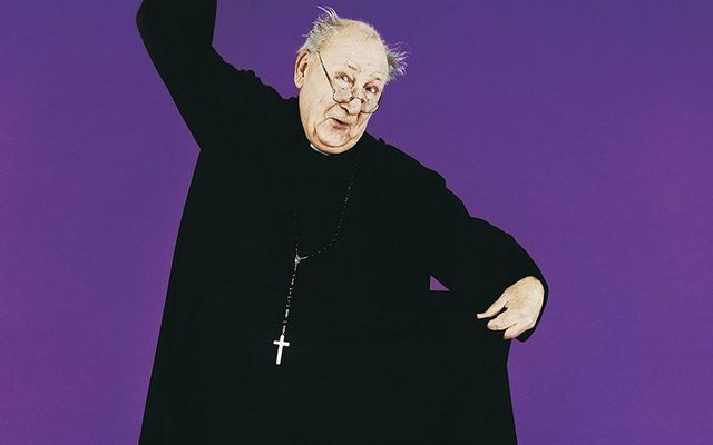 Portrait of a Mature Priest Dancing.