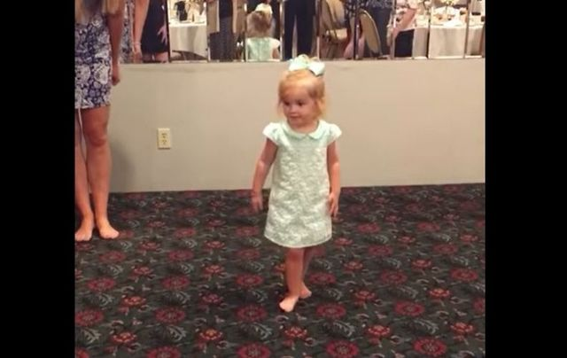 How cute is this 2-year-old Irish dancer?!