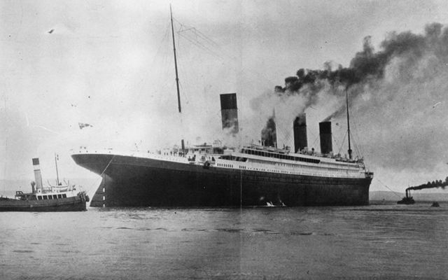 The RMS Titanic, the great ship built in Belfast, sunk by an iceberg on April 15, 1912.