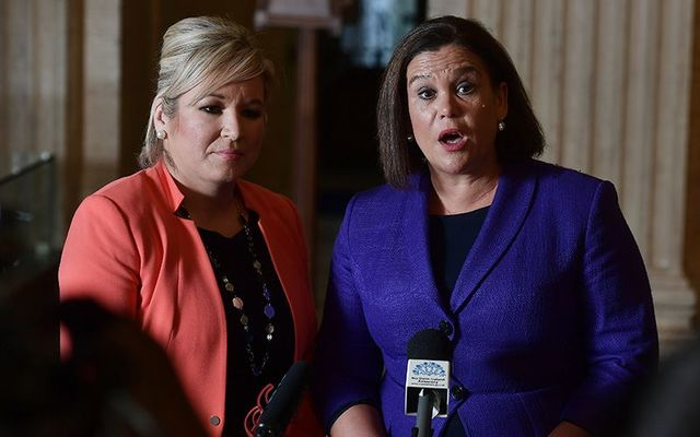 Sinn Fein leaders Michelle O\'Neill and Mary Lou McDonald.