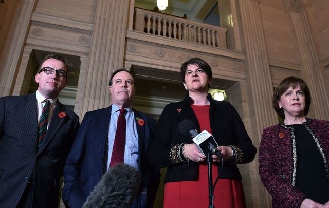 Senior members of the Democratic Unionist Party.