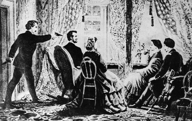 14th April 1865: The assassination of the 16th President of the United States, Abraham Lincoln by actor John Wilkes Booth at Ford\'s Theatre, Washington DC.\n