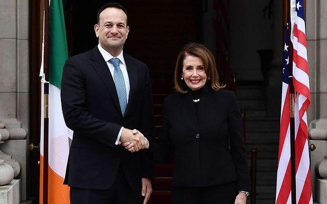 Irish Taoiseach (Prime Minister) Leo Varadkar and US House Speaker Nancy Pelosi.