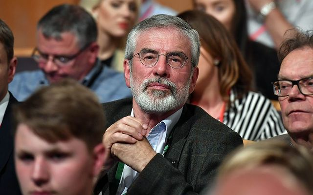 The now-retired president of the Sinn Fein political party, Gerry Adams.