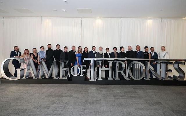 Game of Thrones cast pose at a screening of the season 8 premiere in Belfast.