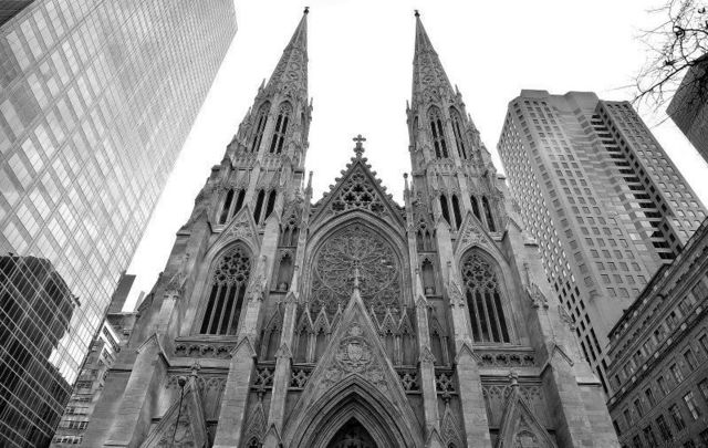 A man was arrested after he carried cans of gasoline into NYC\'s St. Patrick\'s Cathedral on April 17.