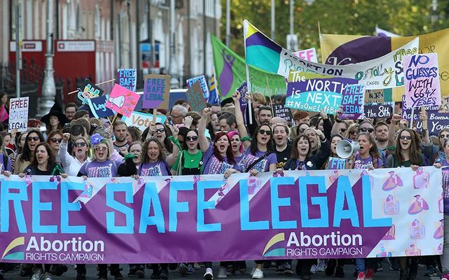 No guesses with 64.4% Yeses: Pro-choice crowds celebrate the 2018 referendum results in Dublin.