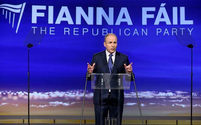 Fianna Fail\'s leader Micheal Martin.