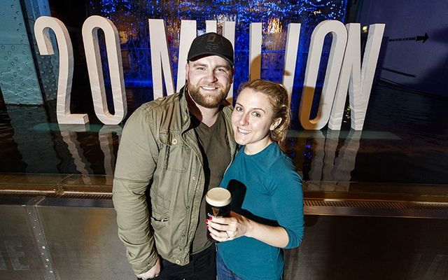 Chris Coen from Tipp and Maria Christian from New York became the 20 millionth visitors to the Guinness Storehouse.