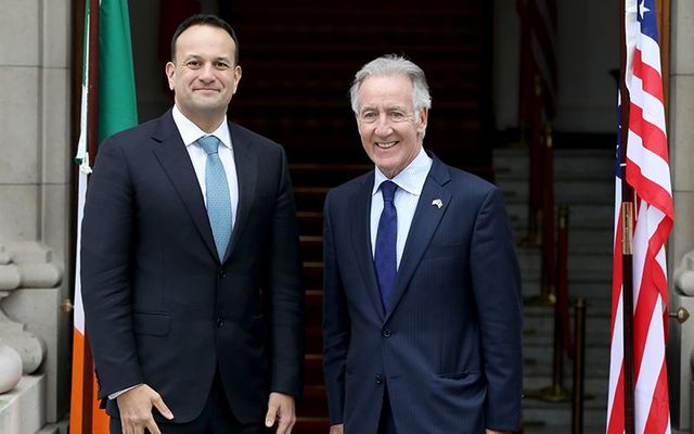Irish Taoiseach (Prime Minister) Leo Varadkar and Representative Richard Neal photographed during the US delegation visit to Ireland, in April 2019.