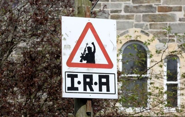 An IRA sign in Derry. New pro-IRA graffiti has appeared in the wake of Lyra McKee\'s death.