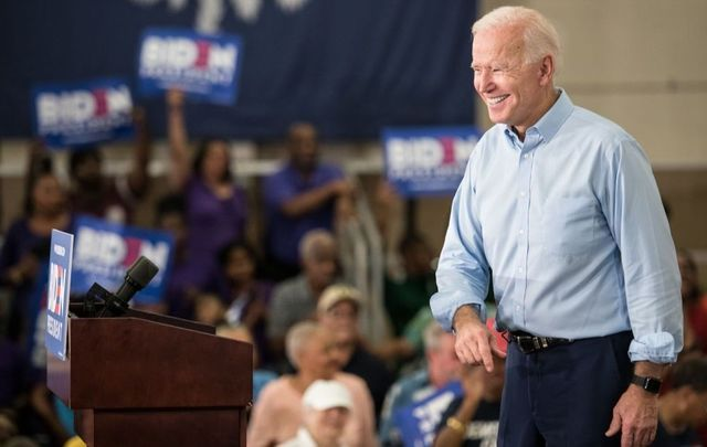 Democratic presidential candidate Joe Biden addresses a crowd at the Hyatt Park community center on May 4, 2019, in Columbia, South Carolina.