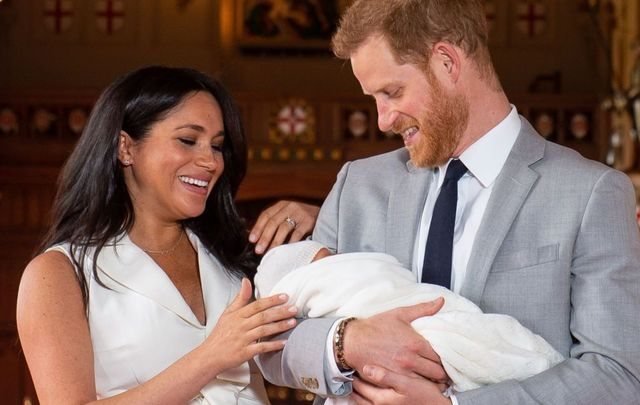 Meghan and Harry with their newborn son Archie Harrison Mountbatten-Windsor.