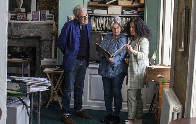 Rory O\'Connell, Fern Allen & Regina Sexton examining Myrtle Allen\'s archives in Ballymaloe House.