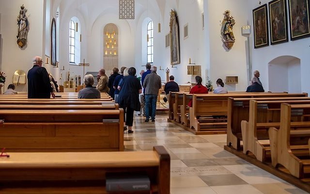 A woman in her 80s had her handbag stolen as she went to receive communion and a man had his phone pickpocketed during the Mass.\n\n
