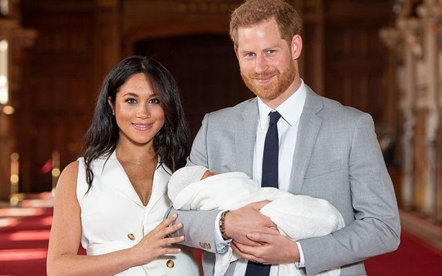 The Duchess and Duke of Sussex, Meghan Markle and Prince Harry with their new son, Archie.