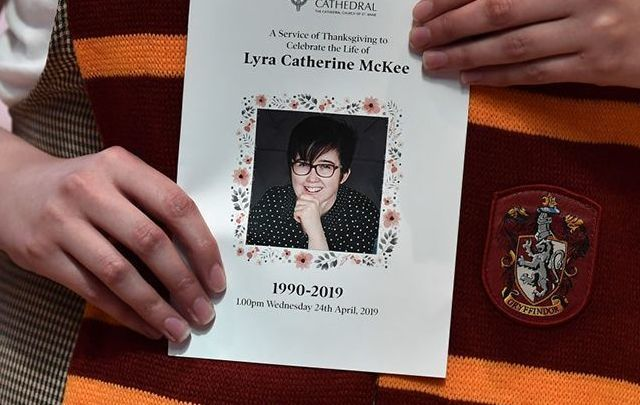 The funeral Mass pamplet of Lyra McKee.