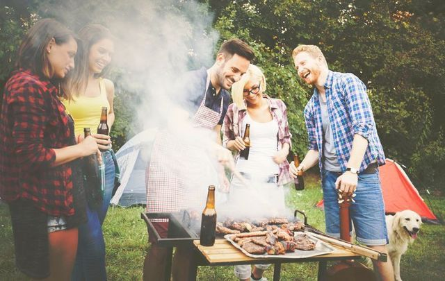 BBQ party with beer.