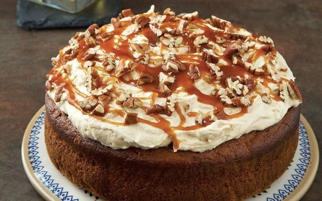Edward Hayden\'s glorious salted-caramel and whiskey cake.