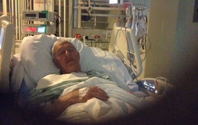 Peter O\'Neill in hospital in the US.