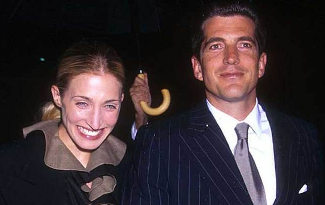 John F Kennedy Jr and Carolyn Bessett in New York in May 1999.