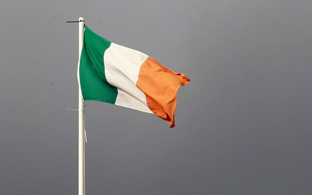 Ireland\'s flag, the tricolor.