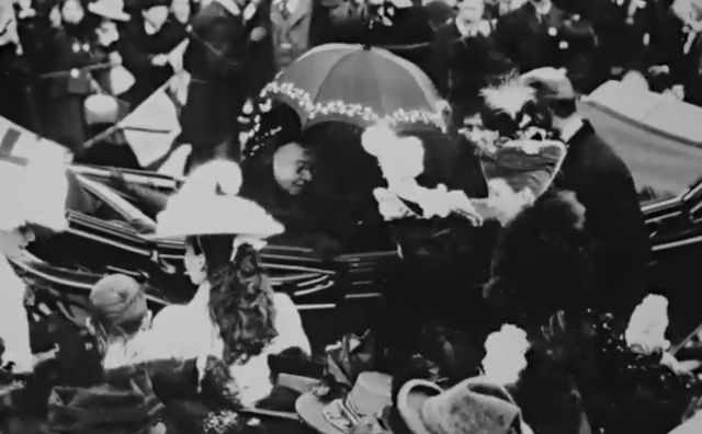 Newly discovered footage shows Queen Victoria during her final visit to Ireland in 1900.