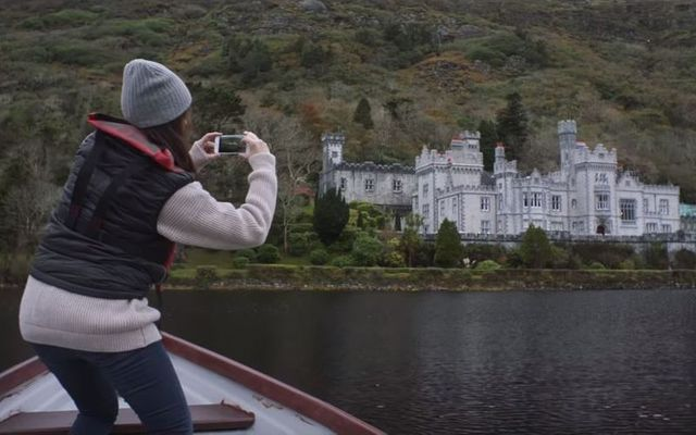 Kylemore Abbey in the Fill Your Heart With Ireland video.