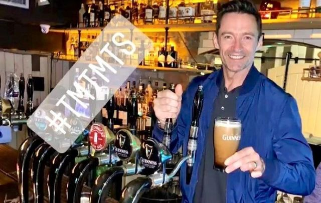 The Guinness-loving Hugh Jackman got to experience is his first ever Irish pint of Guinness this week in Dublin.