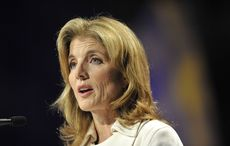 Caroline Kennedy sponsors aircraft carrier built in her father's name