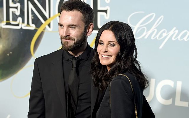 Johnny McDaid and Courteney Cox.