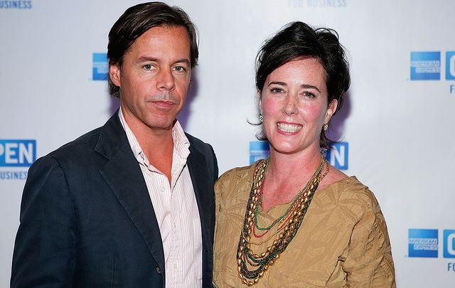 "Andy Spade, CEO and Creative Director of Kate Spade, and designer Kate Spade attend OPEN from American Express\' ""Making a Name for Yourself\"" at Nokia Theater July 27, 2006, in New York City."