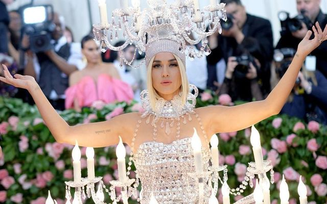 Katy Perry at the 2019 Met Gala, themed Notes on Camp