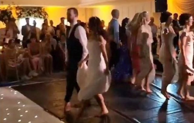 Former Riverdance star Yvonne McNelis put on an epic show at her recent wedding.