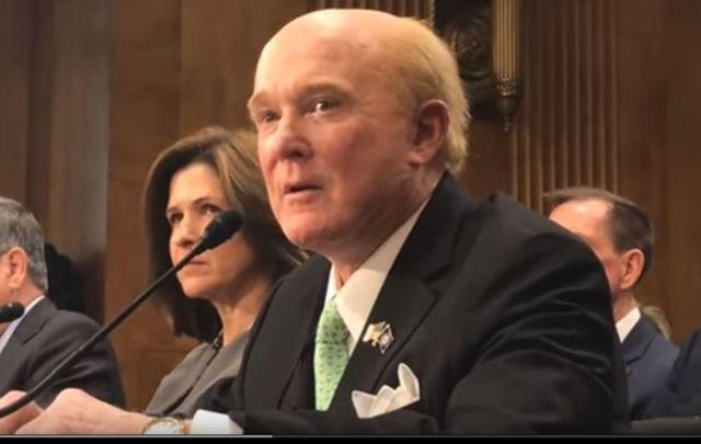 Ohio businessman Ed Crawford, the next US ambassador to Ireland, testifying before the US Senate.