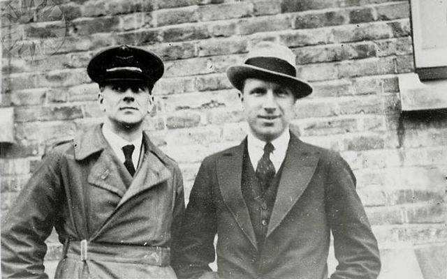 Sir Arthur Whitten Brown and Sir John Alcock in 1919.