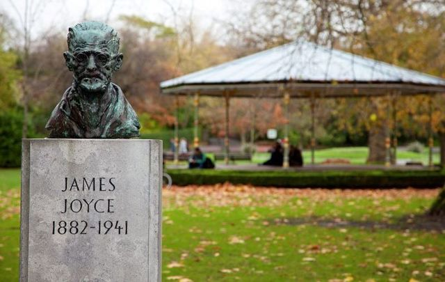 There are plenty of stops around Dublin City associated with Irish writer James Joyce.