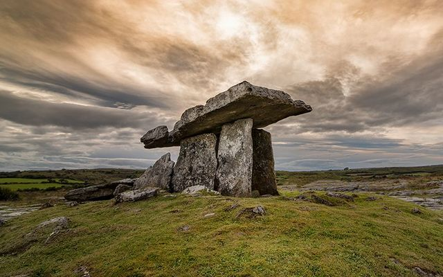 Poulnabrone dolmen, in The Burren, County Clare.