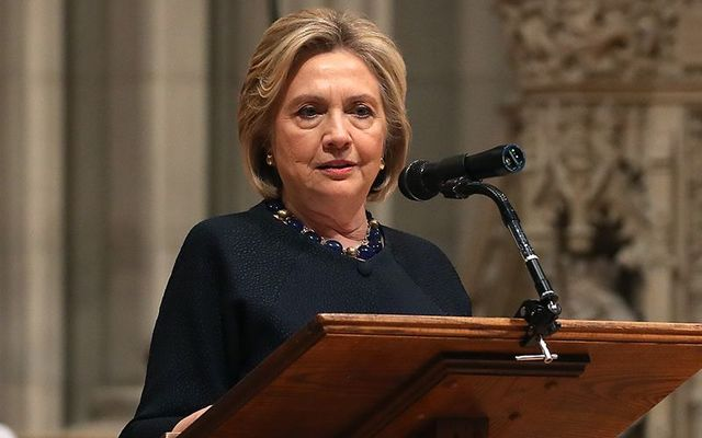 Hillary Clinton stole the show at the 30th anniversary gala for the Irish Rep Theater in New York.