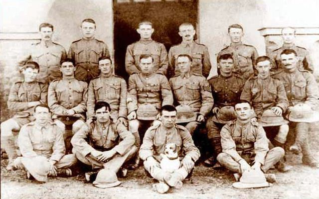 1st Battalion Connaught Rangers including Private James Daly (front row, right-hand side)