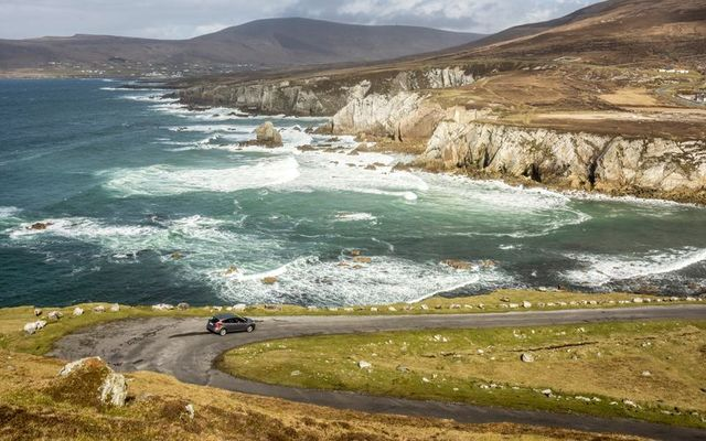 This car on Achill Island evaded the traffic jam!