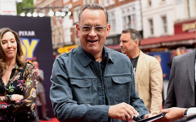 Tom Hanks promoting Toy Story 4.