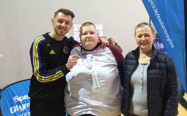 Conor Grassick with his brother Colin and his late mother Ann.