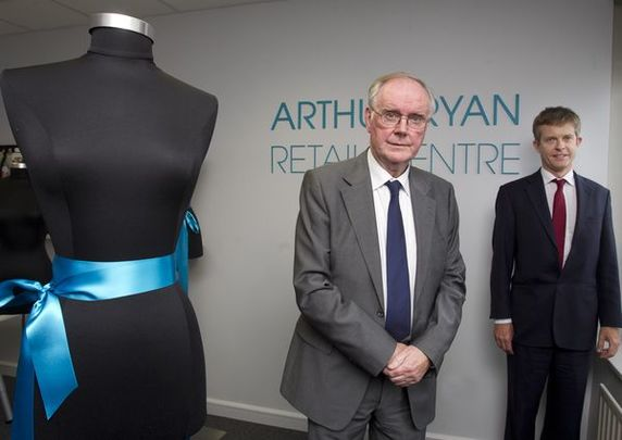 Arthur Ryan and George Weston chief executive ABF PLC at the opening in DIT of The Arthur Ryan Retail Centre.