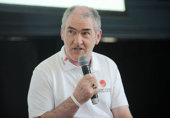 Tyrone Manager Mickey Harte pictured at the launch of Eircom\'s interactive GAA Football Championship Timeline in Croke Park, Dublin, in 2012.