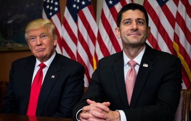 President-elect Donald Trump and then-Speaker of the House Paul Ryan in November 2016.