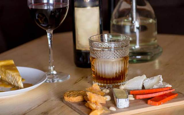 Cheese and alcohol -- a delicious match.
